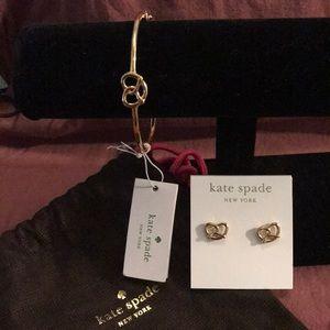 Kate Spade ♠️ bracelet and earrings